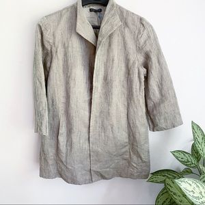 Eileen Fisher Linen Silk Oversized Open Blazer